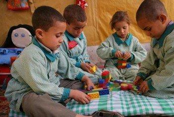 Des enfants égyptiens.