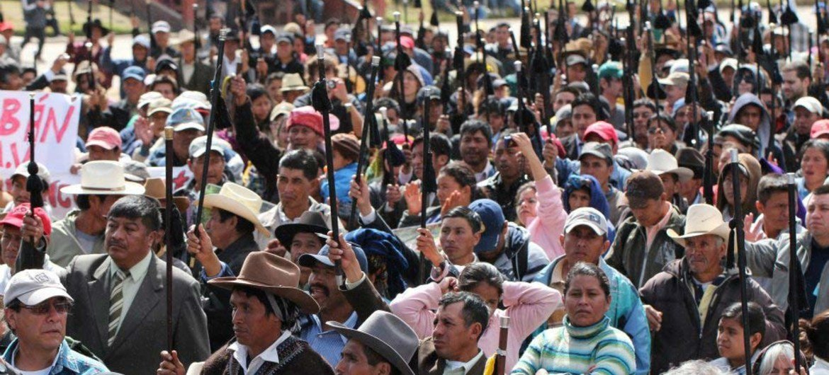Indigenous people in Totonicapán, Guatemala.