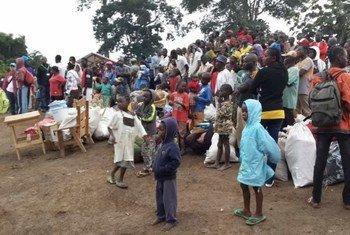 Des réfugiés centrafricains en RDC.