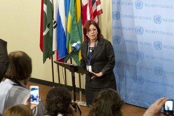 La embajadora argentina ante Naciones Unidas, Cristina Perceval (Foto de archivo: Evan Scheider)