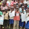 A group of children in Walikale, Democratic Republic of the Congo (DRC).