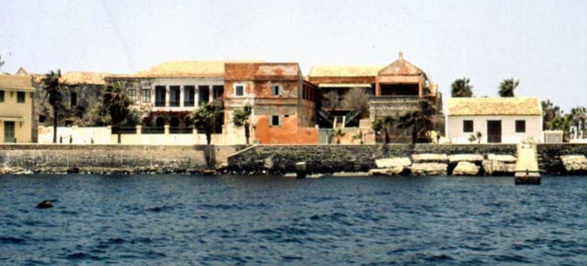 General view of the Island of Gorée, Senegal, which was from the 15th to the 19th century, the largest slave-trading centre on the African coast.