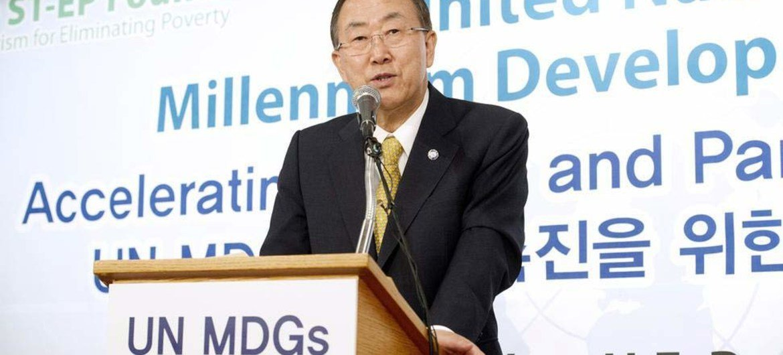 Secretary-General Ban Ki-moon comments on Syria in Seoul, Republic of Korea (ROK).