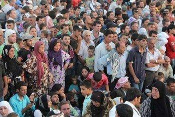 Les réfugiés syriens affluent au Kurdistan, dans le nord de l'Iraq.