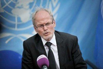 Le Représentant spécial du Secrétaire général des Nations Unies pour la Somalie, Nicolas Kay.