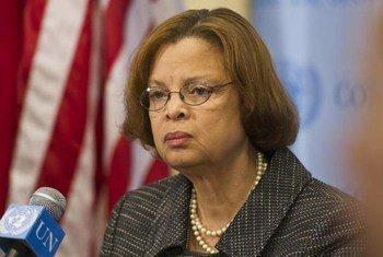 La Représentante spéciale du Secrétaire général pour Haïti, Sandra Honoré.