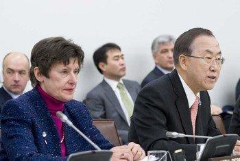 Angela Kane y Ban Ki-moon