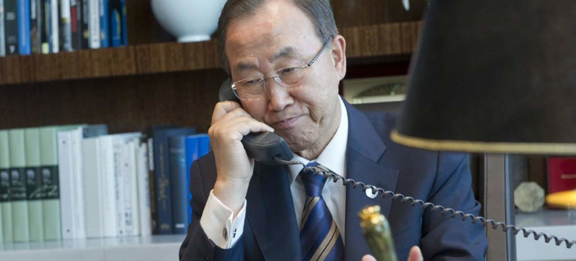 Secretary-General continues to consult world leaders on Syria.