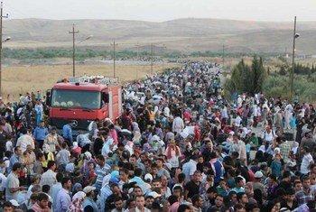 Refugiados sirios en Iraq (Foto: ACNUR-G. Gubaeva)
