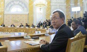 Secretary-General Ban Ki-moon attends the G20 Summit in St. Petersburg, Russian Federation.