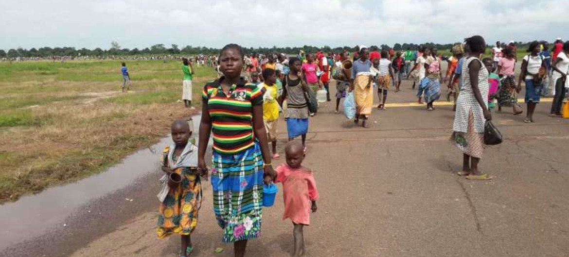 People on the run in Central African Republic.