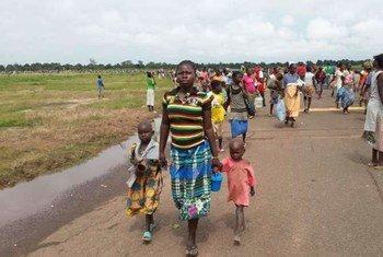 Des populations de déplacés en République centrafricaine.