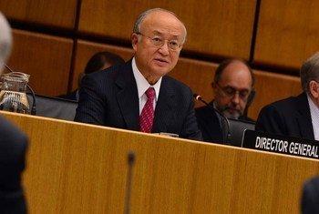 Le Directeur général de l'Agence internationale de l'énergie atomique (AIEA), Yukiya Amano.