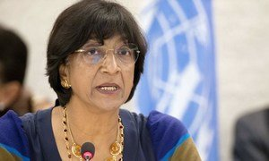 High Commissioner for Human Rights, Navi Pillay, addresses the opening of the Human Rights Council's twenty-fourth regular session.