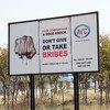 A billboard in Namibia, which calls on everyone to neither offer nor accept bribes.