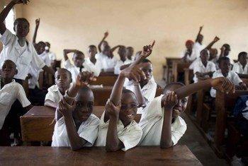 Des étudisants d'une école primaire de République démocratique du Congo (RDC).
