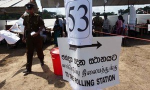 A polling area in the the north of Sri Lanka when local elections were held in July 2010.