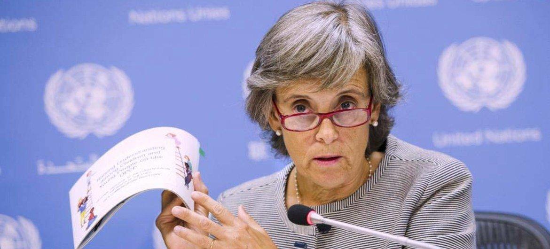 La Représentante spéciale du Secrétaire général chargée de la question de la violence à l'encontre des enfants, Marta Santos Pais.