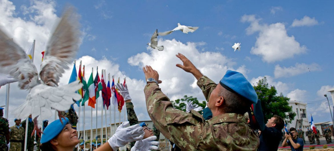United Nations Interim Force in Lebanon (UNIFIL) marks the 32nd International Day of Peace with a ceremony at its headquarters in Naquora.