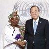 Secretary-General Ban Ki-moon meets with Dr. Nkosazana Dlamini Zuma, Chairperson of the African Union.
