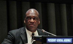 General Assembly President John Ashe addresses meeting on Regional Recommendations for Post-2015 Development Agenda.