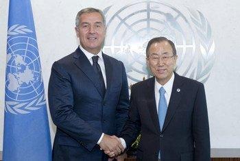 Secretary-General Ban Ki-moon meets with Prime Minister  Milo Dukanović of Montenegro.