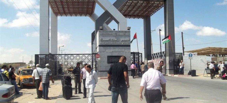 Rafah Crossing between Gaza and Egypt.