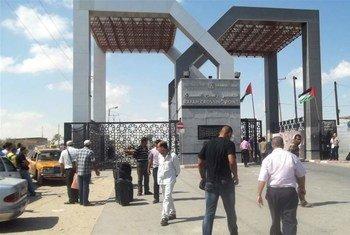 Le passage de Rafah entre Gaza et l'Egypte. Photo IRIN/Ahmed Dalloul