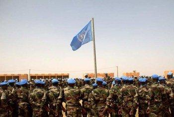 UN peacekeepers in Ménaka, Mali.