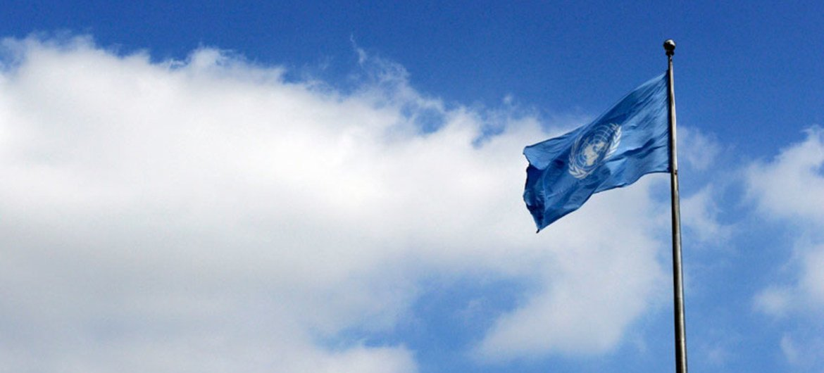 UN Flag on opening day of the General Debate.