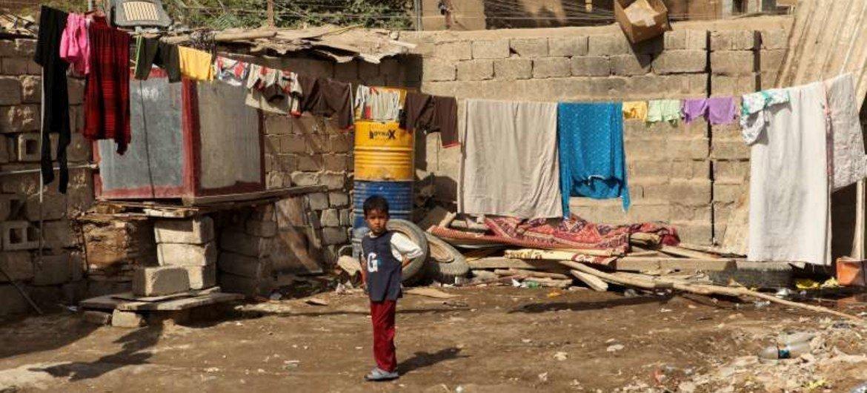 Plus de 460.000 personnes déplacées, réfugiés et squatteurs vivent dans des conditions déplorables en Iraq.