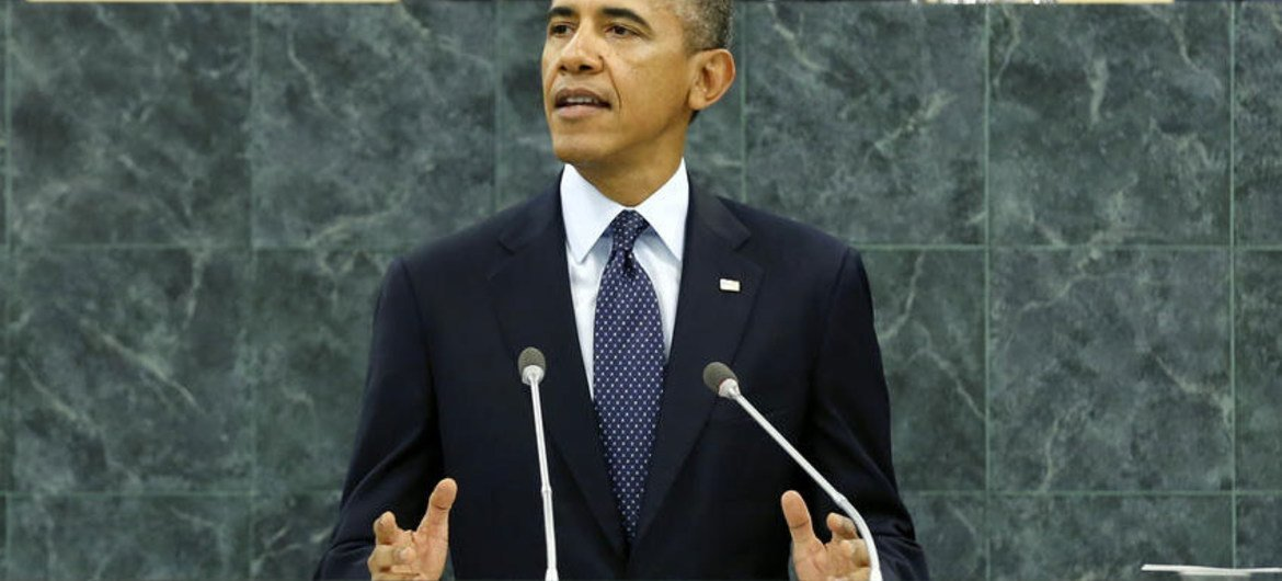 President Barack Obama of the United States of America addresses the UN General Assembly.