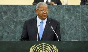 Winston Baldwin Spencer, Prime Minister and Minister for Foreign Affairs of Antigua and Barbuda.