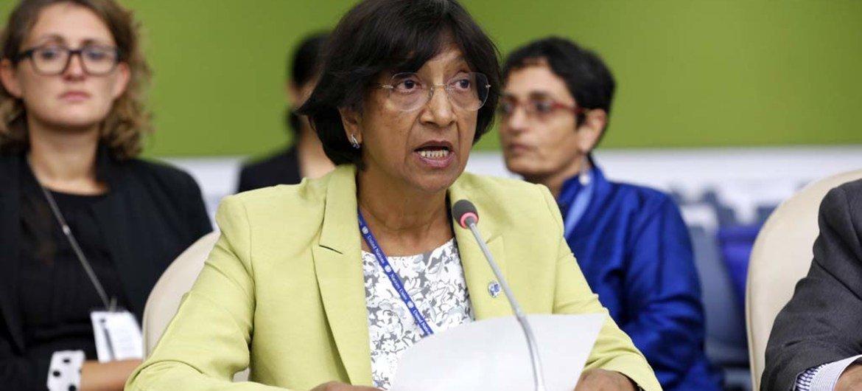 La Haut Commissaire des Nations Unies aux droits de l'homme, Navi Pillay.