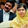 Malala Yousafzai en un evento en la ONU. Foto de archivo: Amanda Voisard)