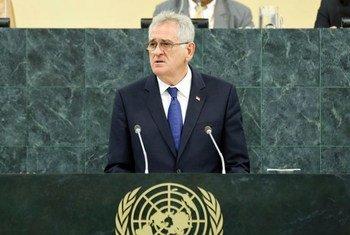 Le Président de la Serbie, Tomislav Nikolic.