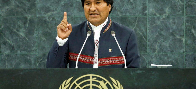 Evo Morales Ayma, President of Bolivia.