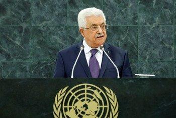 巴勒斯坦总统阿巴斯资料图片。联合国图片/Evan Schneider