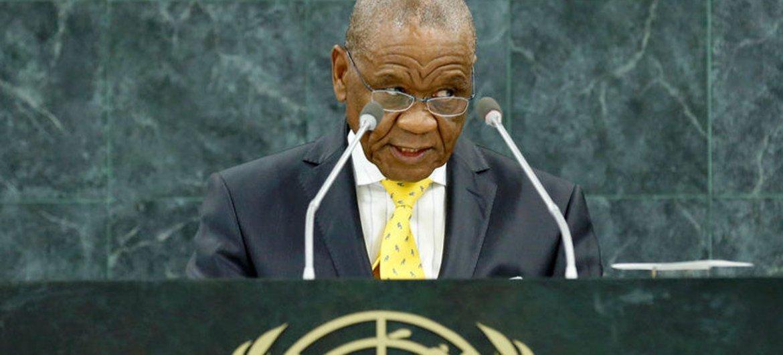 Prime Minister Thomas Motsoahae Thabane of the Kingdom of Lesotho.