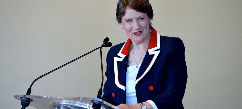 L'Administratrice du Programme des Nations Unies pour le développement (PNUD), Helen Clark.