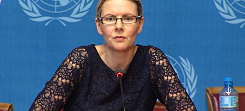 Cécile Pouilly, portavoz de la Oficina de Derechos Humanos de la ONU. Foto de archivo: ONU/Jean-Marc Ferré