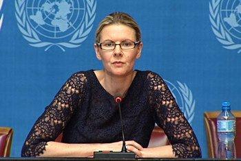 Une porte-parole du Haut Commissariat des Nations Unies aux droits de l'homme, Cécile Pouilly.