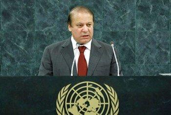 Muhammad Nawaz Sharif, Prime Minister of the Islamic Republic of Pakistan.
