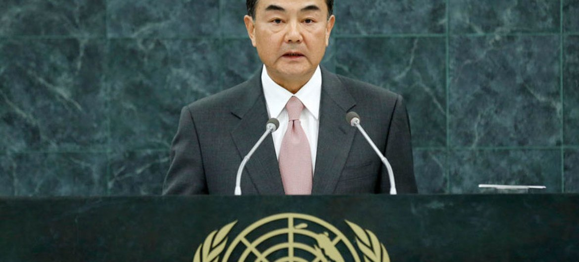 Wang Yi, Minister for Foreign Affairs of China.