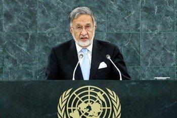 Le Ministre des affaires étrangères de l'Afghanistan, Zalmai Rassoul.