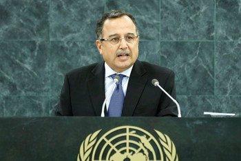 Le Ministre des affaires étrangères de l'Égypte, Nabil Fahmy.