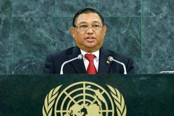 Le Ministre des affaires étrangères du Myanmar, U Wunna Maung Lwin.