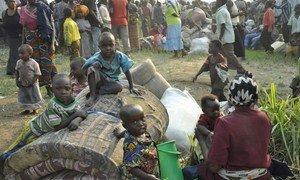Des réfugiés congolais dans un centre de transit en Ouganda près de la frontière avec la République démocratique du Congo (archives)