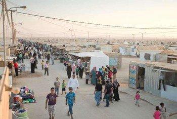"Лагерь для беженцев ""Заатари"". Фото УВКБ"