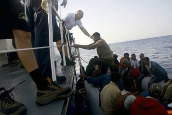 Migrantes rescatados cerca de Lampedusa (italia)  Foto.:ACNUR/A.Di Loreto